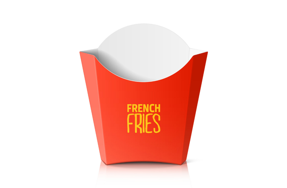 Moisture resistance Quality French Fries Boxes
